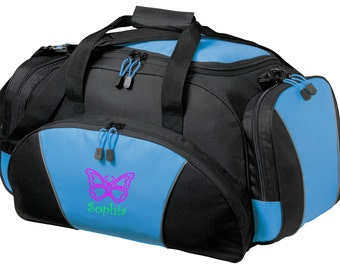Butterfly Gym Bag - Personalized - Monogrammed - Embroidered - Sports Bag - Sports Gift - Butterfly Duffle Bag - BG91