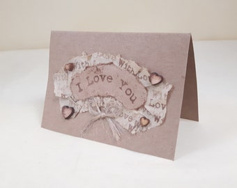 Small 'I Love You' Card