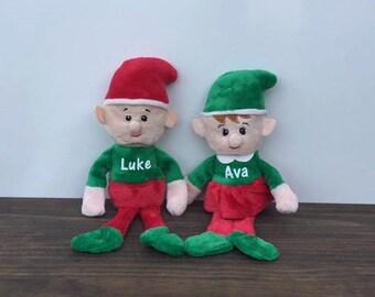 Personalized Plush Christmas Elf Girl Boy Custom Stuffed