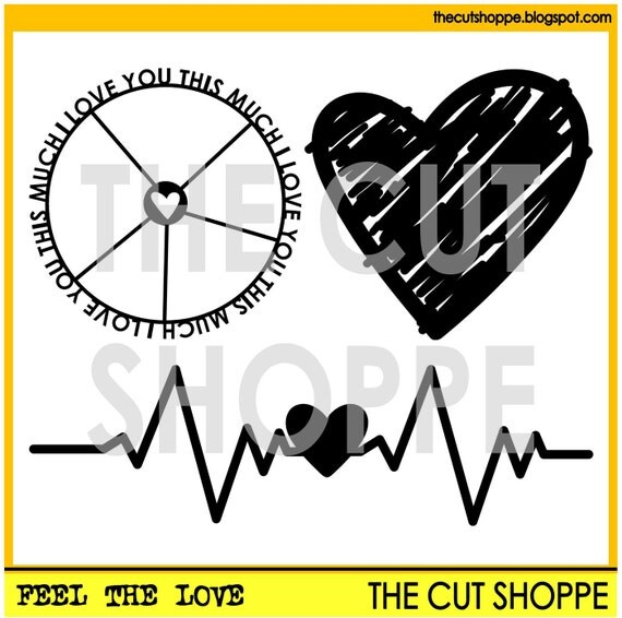 The Feel the Love cut file set includes three loved themed images, that can be used for your scrapbooking and papercrafting projects.