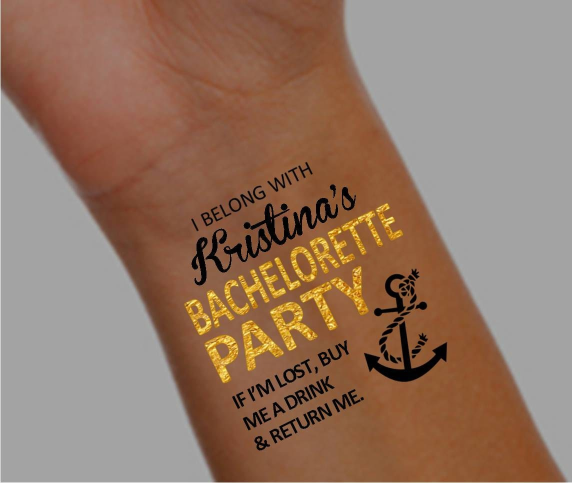 15 bachelorette party temporary tattoos bachelorette party for Bachelorette party tattoos