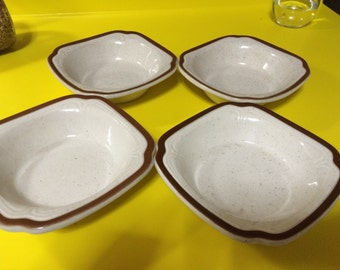 Vintage Syracuse China Bowls Speckled Bowls Soup Bowls Syracuse Pottery Vintage Kitchenware Stoneware Syracuse Diningware Vintage Bowls