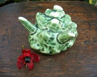 1980s Japanese Tea Ceremony Oribe Ware Turbo Cornutus Horned Sea Snail 蓋置 Futaoki