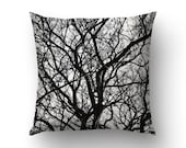 Branches Pillow, Black And White, Nature Pillow Cover, Nature Decoration, Branches Art, Nature Photography, Dried Branches Art