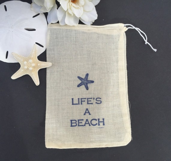 Wedding Favor Bags Beach : favor bags beach wedding by EverlongEvents Wedding welcome bags ...