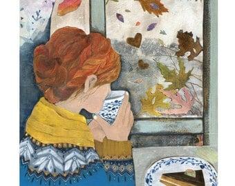 Autumn Window Print