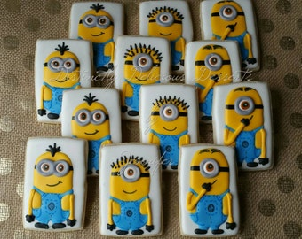 Cookies inspired by Minions (1 dozen)