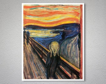 Scream by Edvard Munch - Poster Paper, Sticker or Canvas Print
