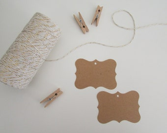 Blank Favor Tags | Rustic Wedding Favor Tags | Gift Tags | Twine Optional