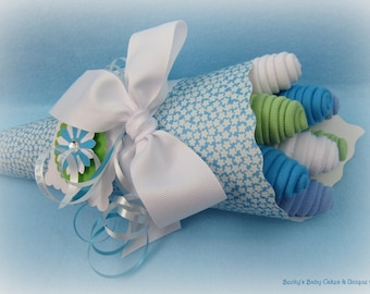 Baby Boy Gifts, Baby Washcloth Bouquet, Baby Boy Shower Gift, Baby Boy, Boy Baby Shower