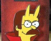 """The Simpsons enamel pin """"Soul Food"""" Ned Flanders"""