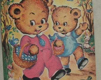 Bobby Bear, 1948, Saalfield Publishing #2900, Vintage Children's Book