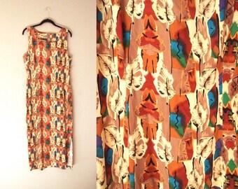 Womens Sundress 90s Medium Large