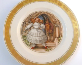 Vintage Royal Copenhagen Hans Christian Andersen The Red Shoes Fairy Tale Plate.
