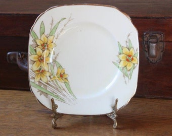 Art Deco bone china side plate Made in England by Delphine