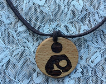Essential Oil Diffuser Necklace, International Breastfeeding Symbol Necklace, National Breastfeeding Necklace, Lactation Consultant Gift