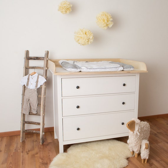 xxl natural wood changer changing table top for ikea hemnes. Black Bedroom Furniture Sets. Home Design Ideas