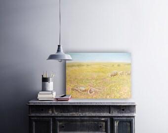 """Acrylic on wood panel, """"Meadow"""" 24x30"""