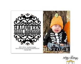 5x7 Halloween Mini Session Template, Marketing Board, Photography Marketing Template, Mini Session Marketing, Photography Branding M-22