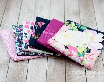 LAVISH PINKS Fabric BUNDLE - Floral Fuchsia and Navy Fabrics - Art Gallery Fabrics