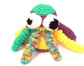 Multicolor Octopus, Crochet octopus stuffed animal, octopus plushie, octopus toy, octopus stuffie, crochet toys, stuffed octopus doll,