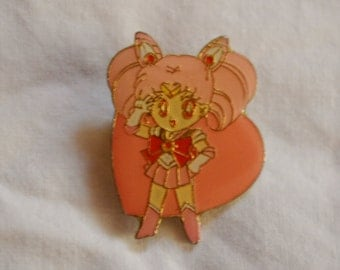Pretty Soldier Salormoon Official Kanebo Chibimoon Pin