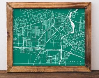 Camarillo Map Camarillo Art Camarillo Map Art Camarillo Print Camarillo Printable Camarillo City Art California Art