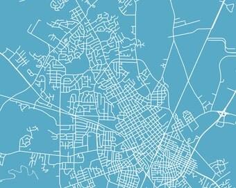 Wilson Map Wilson Art Wilson Map Art Wilson Print Wilson Printable Wilson City Art Wilson City Map North Carolina Art
