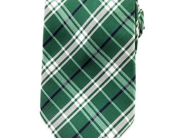 Mens Necktie Green with White and Black Plaids 8.5 CM Necktie. Formal Tie. Wedding Tie. Formal Necktie. Business Tie. Green Plaids Tie. Tie
