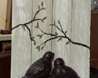 Decorative bird hooks.
