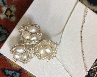 Sterling Silver Bird Nests