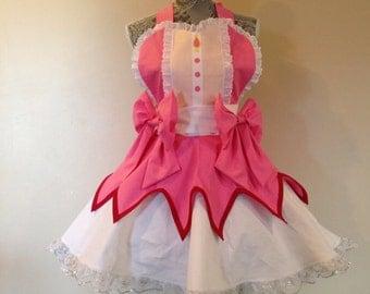 Madoka Magica - Puella Magi - Madoka Cosplay - Madoka Costume - Retro Apron