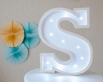 Nursery Wall Art,Nursery Decor, Personalized Nursery Decor, Personalized wall art  Wood name on Large Letter S