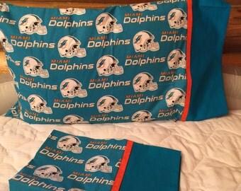 Miami Dolphins Standard Size Pillow Case