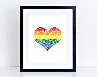 Pride Love Language Print