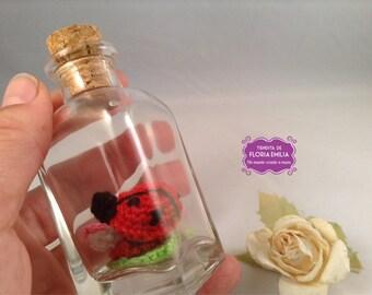 Micro amigurumi Ladybug