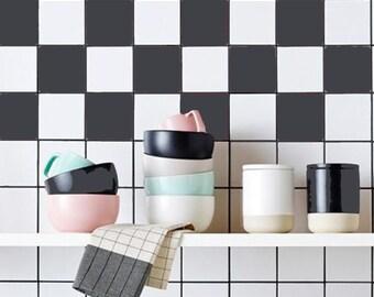 Superb Kitchen Bathroom Tile Decals Vinyl Sticker : Solid Color