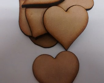 wooden crafts shapes, HEARTS, embellishments. decoupage, scrapbooking