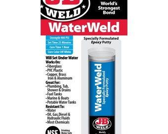 J B Weld Plasticweld Epoxy Putty Stick Repair Plastic
