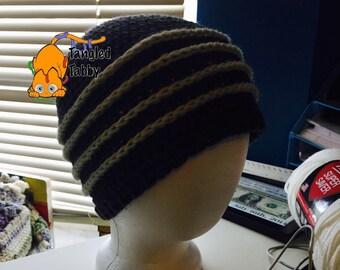 Crochet Pattern, Crochet Hat Pattern, Beanie Pattern, Crochet Stripped Beanie, Stripped Hat, Teenage Beanie Pattern,  Crochet Striped Beanie