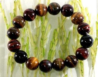 Tiger eye stone bracelet  -- 6166
