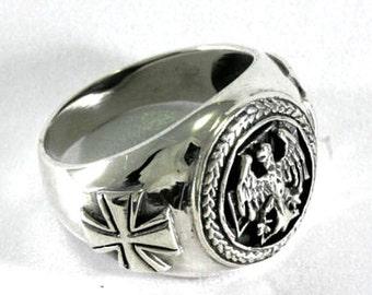 German Ring  925 sterling silver  --  3752