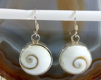 Shivaeye and 925 sterling silver earrings   --- 6165