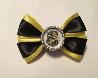 Harry Potter Hufflepuff house hair bow