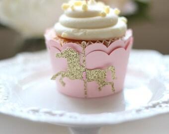 Carousel Cupcake Wrapper