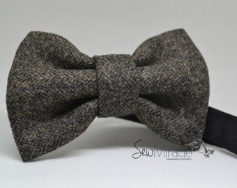Wool Bow tie - Men's bow tie - Handmade - Gift for him - Wedding - Accessories - Men's accessories