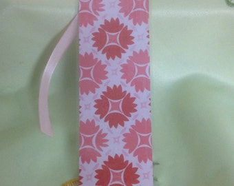 Pink Bookmark , pink Ribbon , Laminated , Books , Page keeper , Reading , Waterproof