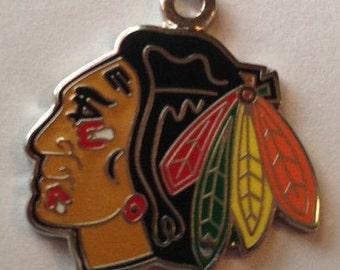 Chicago Black Hawks Hockey Charms