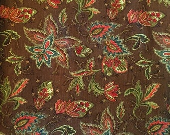 Mill Creek Raymond Waites RAJASTAN Floral Brown Drapery Upholstery Fabric