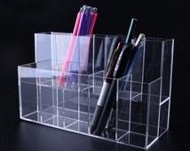 Acrylic Marker storage Rack Markers Holder/Makeup Brush / Cosmetic Organizer / Pen Holder / Pencil Holder/Tool Holds TZ447